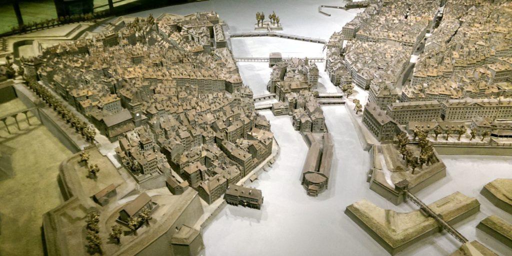 Genewa makieta miasta