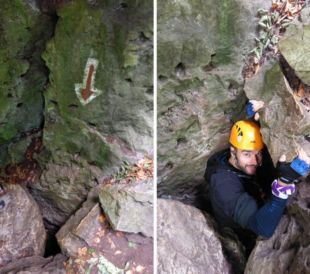 Jaskini ana trasie ferratowej